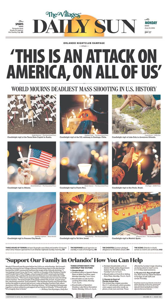 The Villages Daily Sun | Today's Front Pages | Newseum