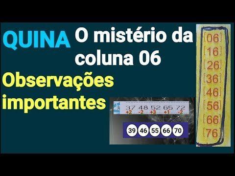 Quina A Misteriosa Coluna 6 E Observacoes Importantes Youtube Numero Da Sorte Observacao Coluna