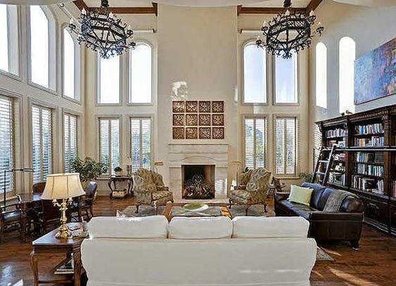 Plan 36145tx spectacular two story family room 2nd for 2nd living room ideas