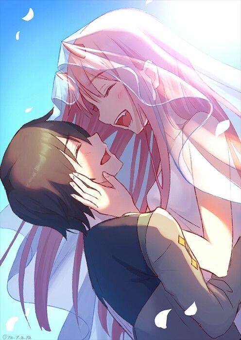 Pin De Daisuke3445 Em Hiro Zero Two Darling In The Franxx Animes Wallpapers Anime De Romance Anime Gotico