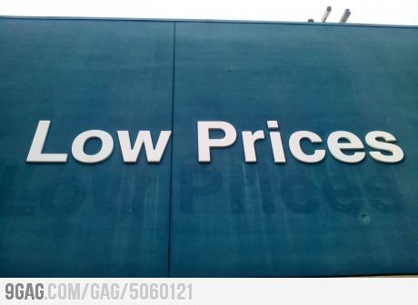 Walmart raised its low prices.