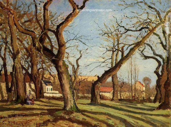 Camille Pissarro Chestnut Trees at Louveciennes, 1872 online outlet for sale, painting Authorized official website