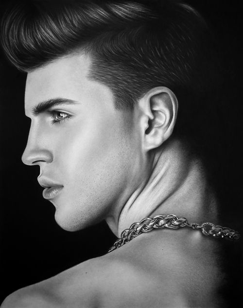 Learn How To Draw People Hyper Realism Pencil Drawing Human Face Profile Male Face Drawing Drawing People Realistic Art