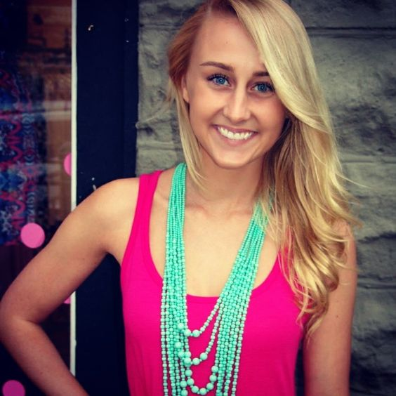 $18.50 Solid knit maxi dress and mint long layered necklace www.shopthepinkroomboutique.com