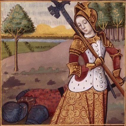 LXXII-Vengeance de Bérénice (ou Laodice) de Cappadoce (LAODICE, queen of Cappadocia) -- Giovanni Boccaccio (1313-1375), Le Livre des cleres et nobles femmes, v. 1488-1496, Cognac (France), traducteur anonyme. -- Illustrations painted by Robinet Testard -- BnF Français 599 fol. 63