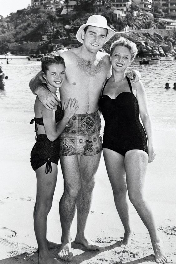 Bob Mathias with Debbie Reynolds and Celeste Holm