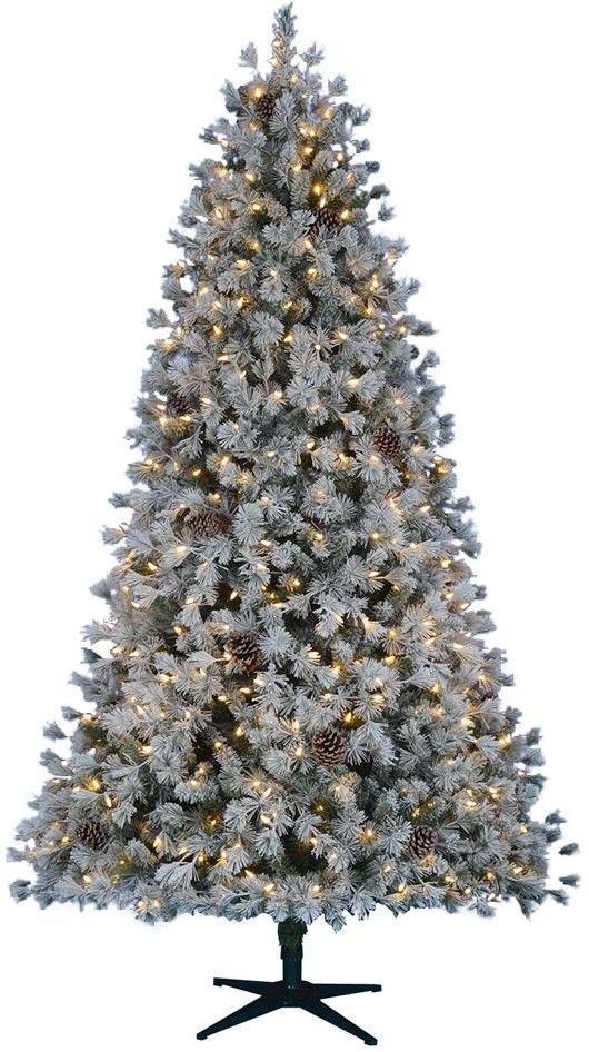 Home Accents Holiday 7 5 Ft Pre Lit Led Flocked Lexington Pine Artificial Tree Artificial Christmas Tree Pre Lit Christmas Tree White Led Lights