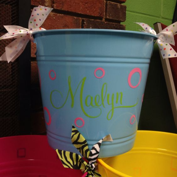Easter buckets! From Impressions Screen Printing & Graphics. Find us on Facebook.