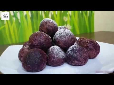Cara Membuat Bola Ubi Ungu Lumer Cokelat Resep Bola Ubi Ungu Lumer Resep Ubi Ide Makanan