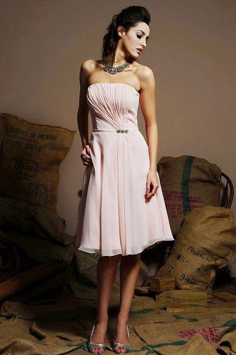 Pretty A-line natural waist chiffon dress for bridesmaid $148.00