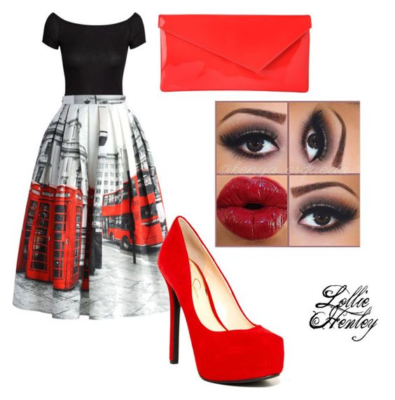 """""""London black and red"""" by lolliehenley ❤ liked on Polyvore"""