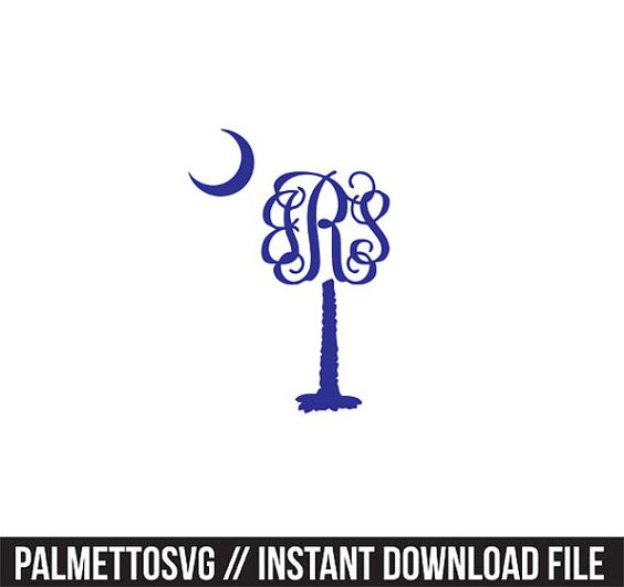 Palm Tree monogram frame Svg, Cricut Cut Files, Silhouette Cut Files  This listing is for an INSTANT DOWNLOAD. You can easily create your own