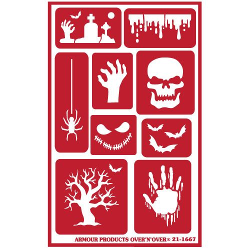 New re-usable glass etching stencil available now at www.etchworld.com -Part #21-1667 Halloween. For use with Armour glass etching cream