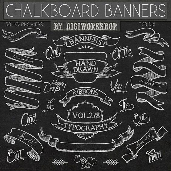 Blackboard Artwork Ideas: Chalkboard Clip Art: Chalkboard Clipart