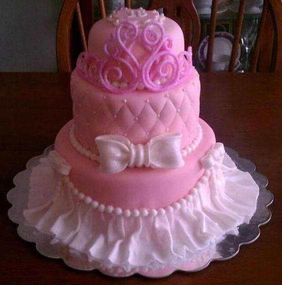 Cakes With Ruffles For Girls