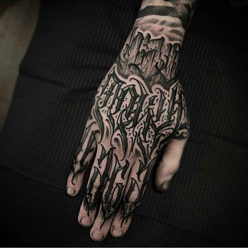 Tatuajes en la mano para hombres y su significado