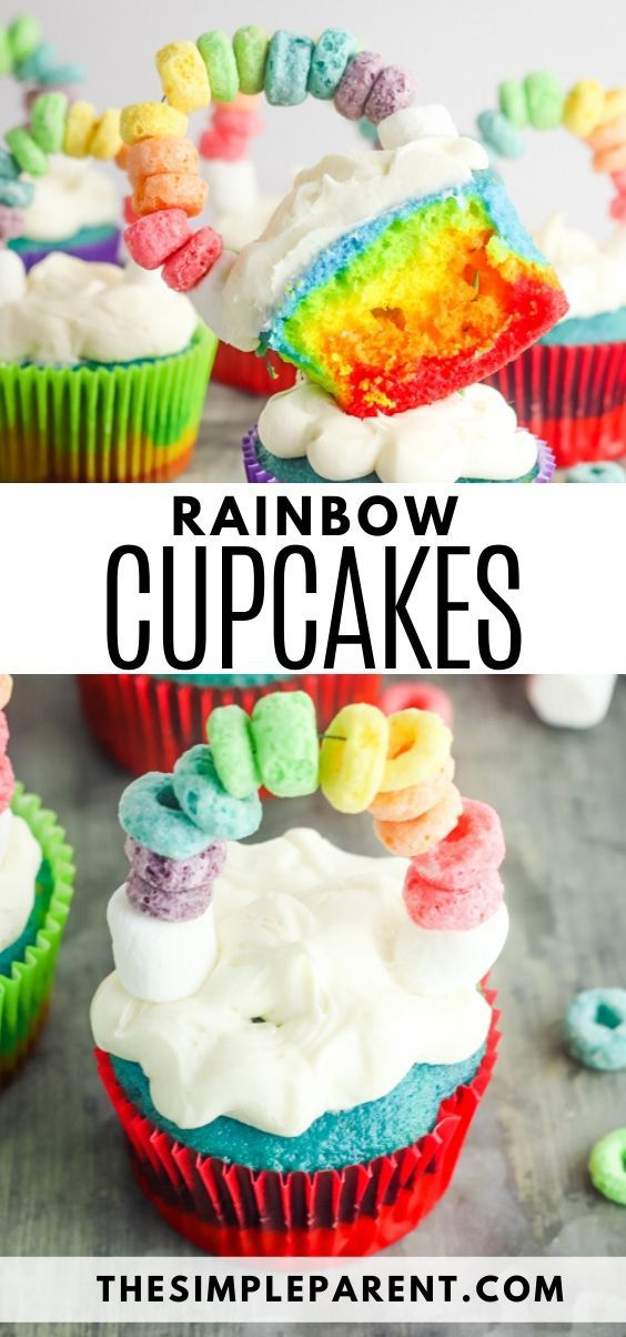 Learn How To Make Rainbow Cupcakes With Cake Mix To Make Baking