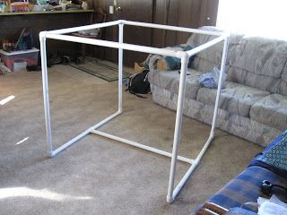 Diy pvc pipe quilting frame crafty pinterest the o for Floor quilt frame