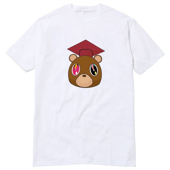 Graduation Bear Kanye West T Shirt College Dropout Yeezus Good Music Jay Z Swish Late Registration Graduation Bear T Shirt Shirts