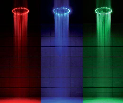 Rio Led Shower Head Lights Up Your Bath Like A Disco With Images Led Shower Head Shower Lighting Amazing Showers