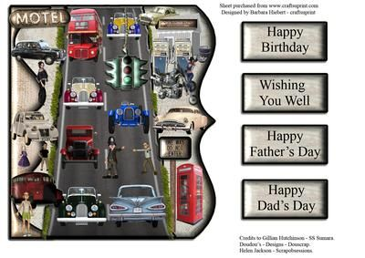 Car Parade Day over the edge on Craftsuprint - Add To Basket!