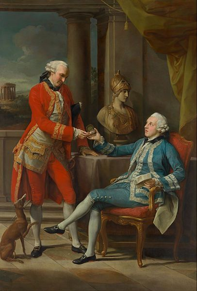 Portrait of Sir Sampson Gideon and an unidentified companion by Pompeo Batoni (Italian 1708 - 1787):