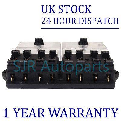 • the world s catalog of ideas new 8 way universal standard 12v 12 volt atc blade fuse box