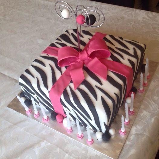 Geschenk Torte Zebra-Look Present Cake