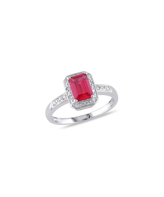 Loving this Ruby & Diamond Emerald-Cut Ring on #zulily! #zulilyfinds