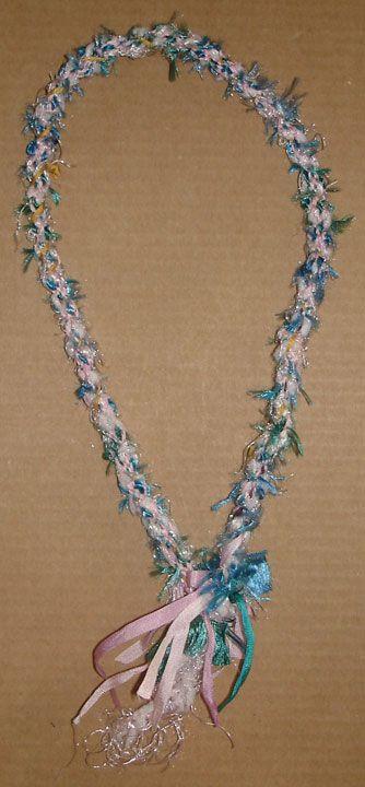 Kumihimo japonês trança fita colar