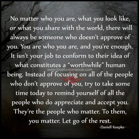 No Matter Who You Are What You Look Like Or What You