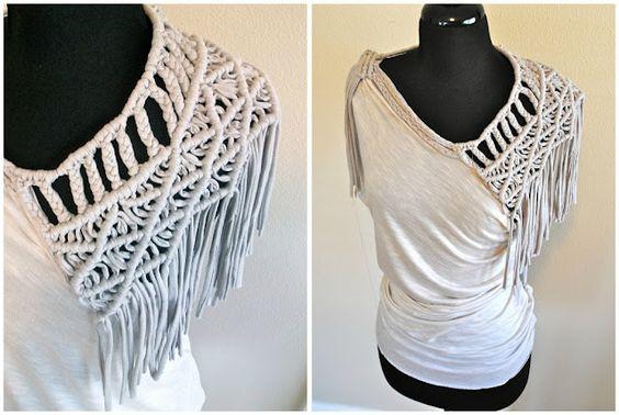 Tutorial: made from tshirt yarn. macrame weaving