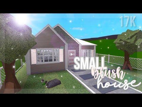 Small Blush House 17k Roblox Bloxburg Cute House Cheap Houses Small House Design