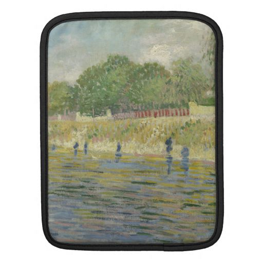 Bank of the Seine by Vincent Van Gogh iPad Sleeves