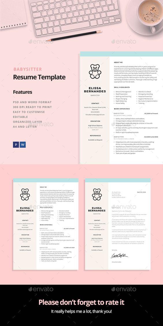 Babysitter Resume Template - babysitter resume template