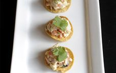 "Loving this recipe ""Crab Tostada"" by Aarón sánchez from Giada's digital weekly !"