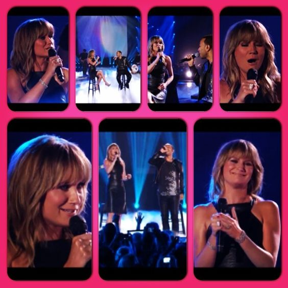 """Jennifer Nettles and John Legend perform """"All Of Me"""" during June 4th's CMT Awards. I love their voices; so powerful!"""