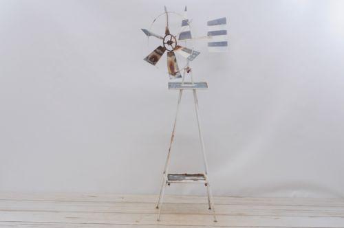 Vintage Metal Windmill Tin Windmill Red White And Blue Small Garden Windmill Garden Windmills Windmill De Windmill Decor Small Garden Windmill Metal Windmill