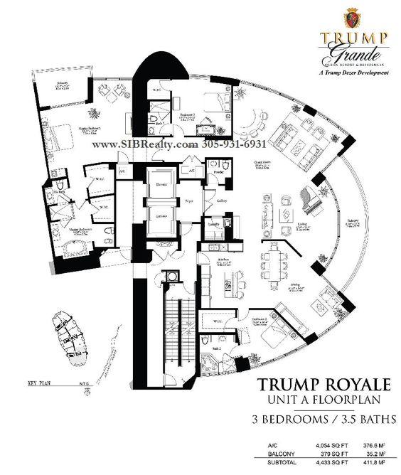 Penthouses In Miami Floor Plans Floor Plan Trump Palace