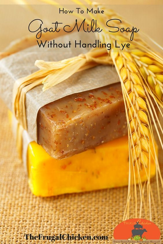 Goat milk makes some of the best soap out there - but who wants to handle lye? If this sounds like you, you'll love this step-by-step video tutorial which shows you how to make custom goat milk soap in your home, without handling lye. From FrugalChicken #soap #bath