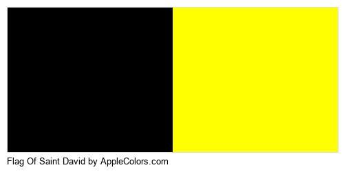 Country Yellow David Flag Flags Saint Black 000000 Ffff02 In