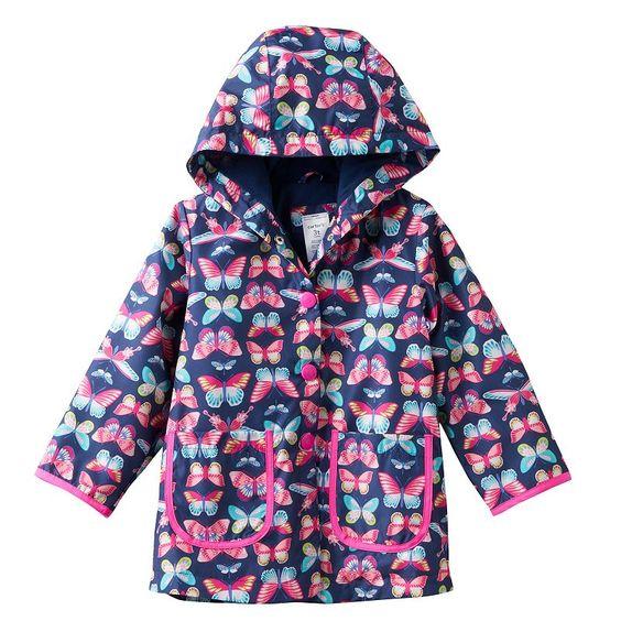 Toddler Girl Carter's Lightweight Pattern Rain Jacket, Size ...