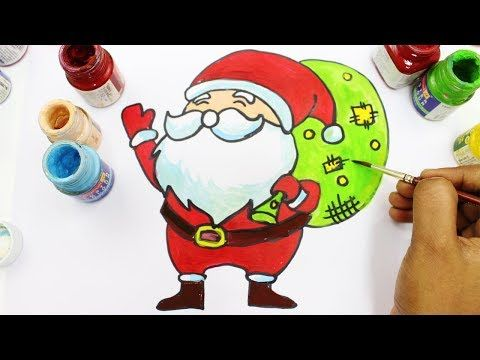 3 How To Draw Santa Claus For Kids Christmas Coloring Pages For Baby Youtube Kids Christmas Coloring Pages Christmas Coloring Pages How To Draw Santa