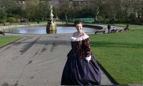 halifax park My Hollywood does the 18thc outfit,Its a caraco Jacket and skirt