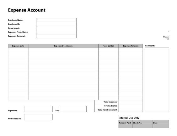 Doc460648 Expenses Form Template Expense Claim Form Template – Expense Claim Template