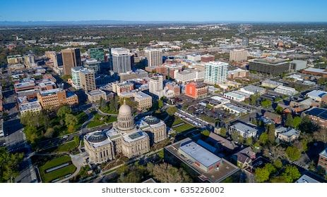 Idaho State Capital Building And City Of Boise With Images