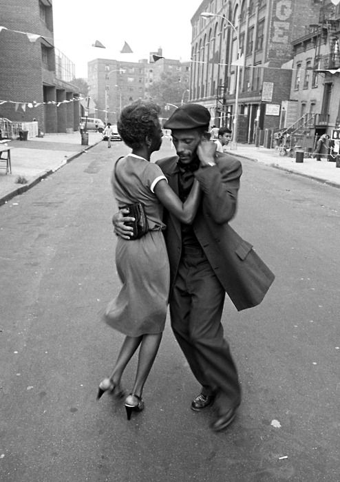 Dancers in Mott Haven, The Bronx, August 1956. Photo by David Gonzalez.