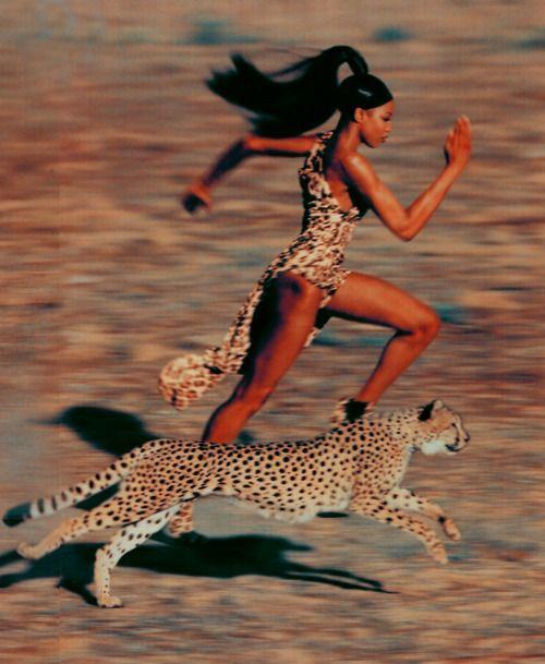 Naomi faster than a cheetah!