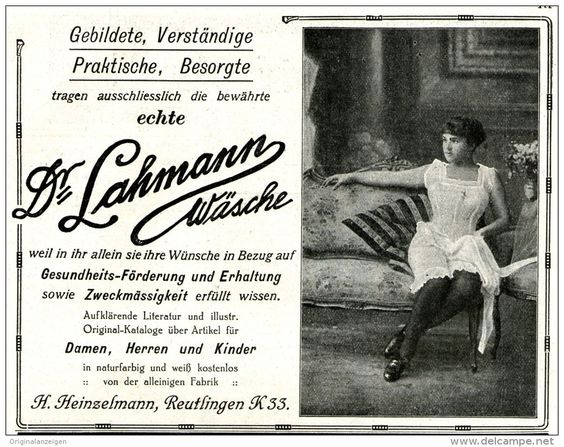 Original-Werbung/Inserat/ Anzeige 1914 - DR.LAHMANN WÄSCHE / HEINZELMANN ca. 140 x 110 mm