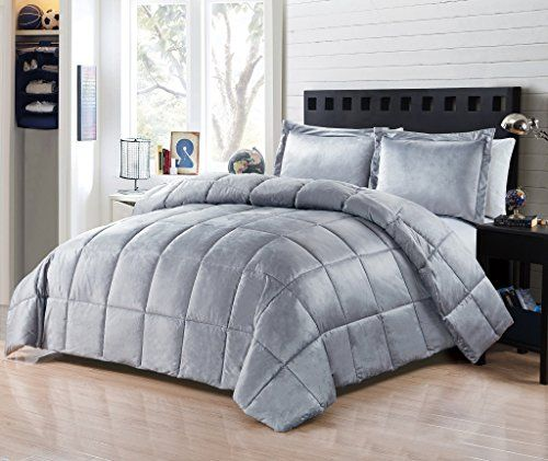 Comforter 3pcs Set Micromink Flannel 90 By 90 Inches 2 Shams 20